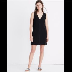 Madewell Texture & Thread Button Front Dress Large